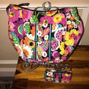 Vera Bradley Purse with matching kiss-lock wallet